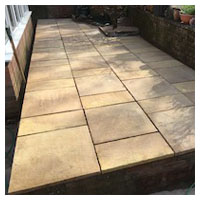 New Slabs on Raised Patio (No Jointing)